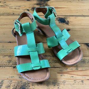 Franco Sarto Green Leather Sandals